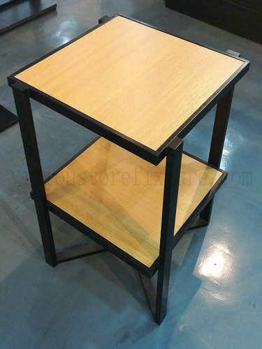 Wooden metal frame square table